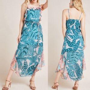NWT Anthro Farm Rio Ruffled Botanical Maxi Dress